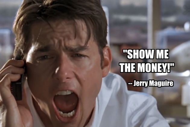 From Jerry Maguire Quotes. QuotesGram Jerry Maguire Show Me The Money